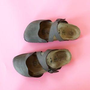 Birkenstock Birki's Brown Mary Jane Slide Sandals